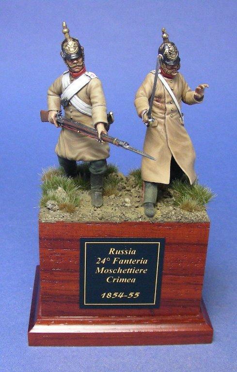 Moschettiere e ufficiale del 24° Fanteria russa.