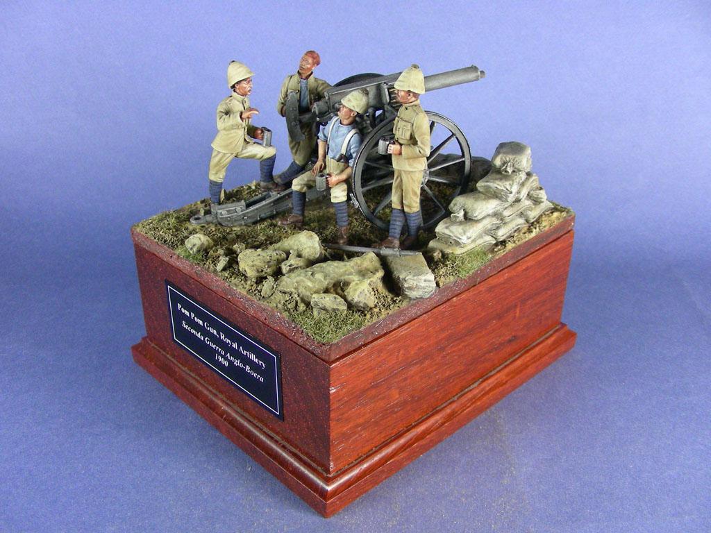 Regno Unito, Royal Artillery, Pom Pom Gun. Seconda Guerra anglo boera, 1900.