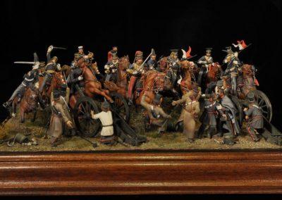 Diorama della carica della Brigata leggera a Balaclava, 25 ottobre 1854.