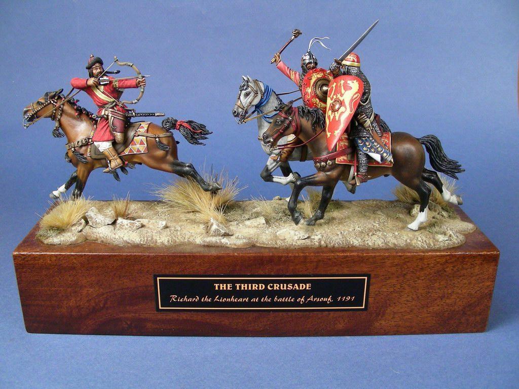 Riccardo Cuor di Leone alla battaglia di Arsouf, 1191