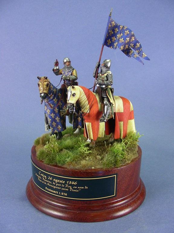 Il re di Francia Filppo VI alla battaglia di Crécy, 1346.