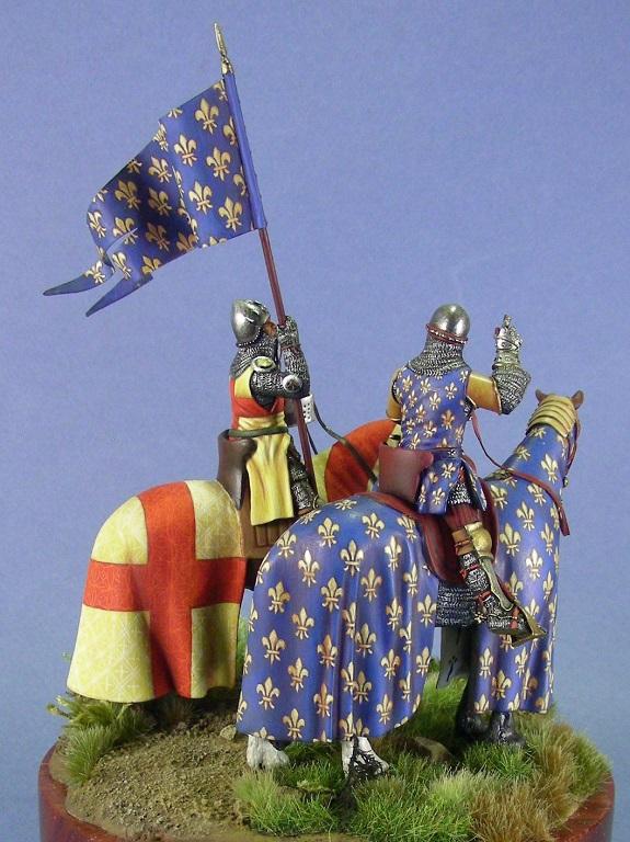 Il re di Francia Filppo VI alla battaglia di Crécy, 1346