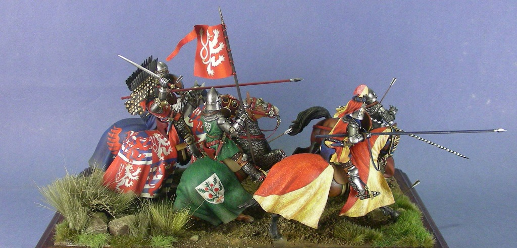 """Giovanni """"il Cieco"""" di Lussemburgo, re di Boemia, alla battaglia di Crécy"""