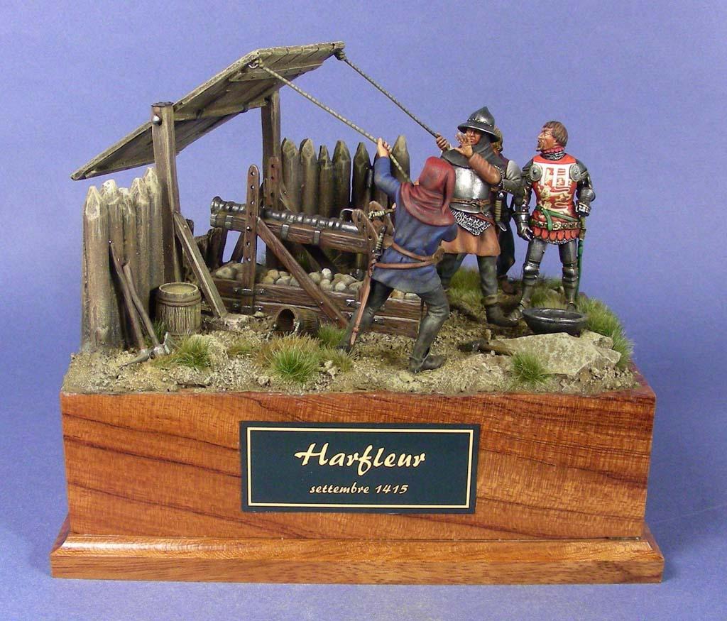 Postazione di artiglieria inglese all'assedio di Harfleur.