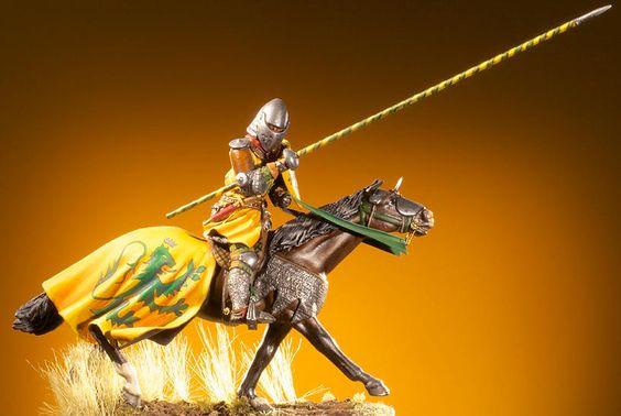 Cavalieri francesi a Crécy