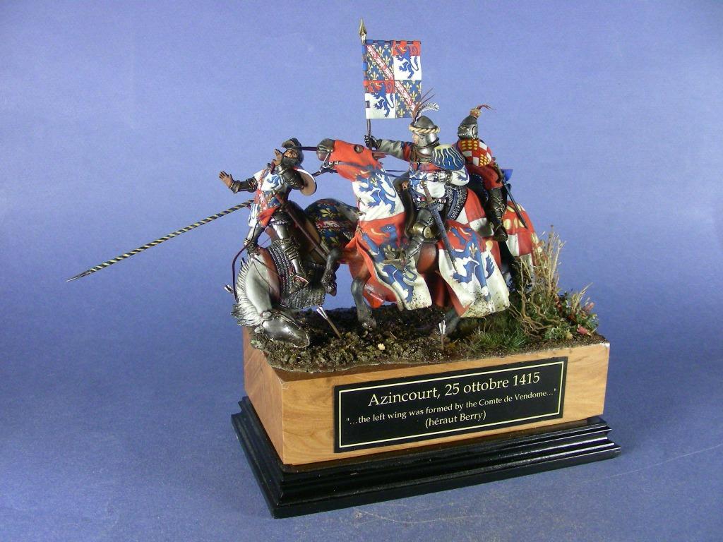 Il conte di Vendome guida la carica della cavalleria francese.