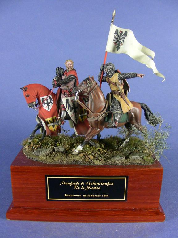 Re Manfredi di Sicilia alla battaglia di Benevento, 26 febbraio 1266.