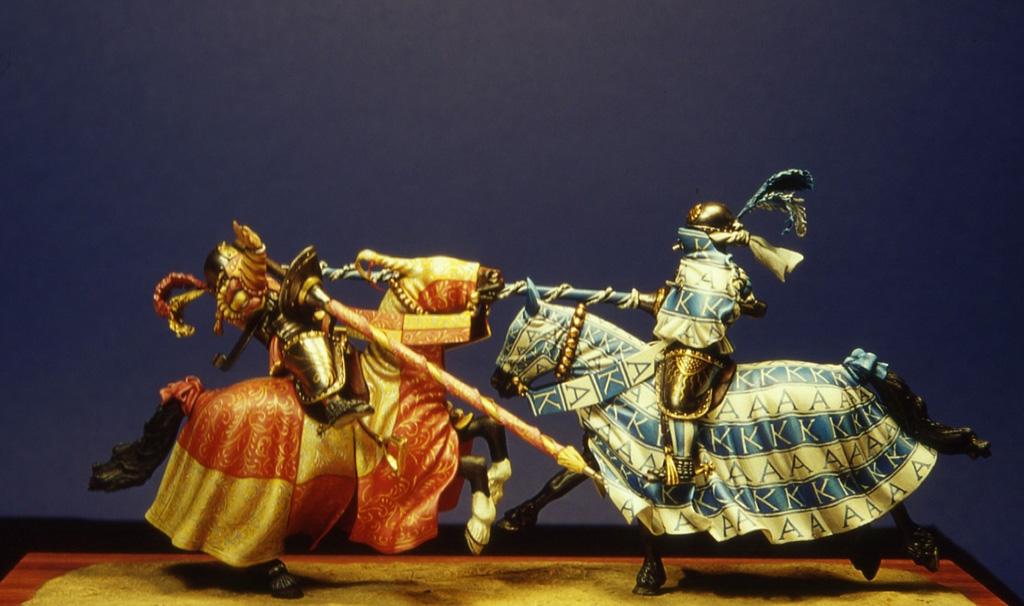 Impatto fra due cavalieri tedeschi nel gioco guerresco detto 'schweifrennen'