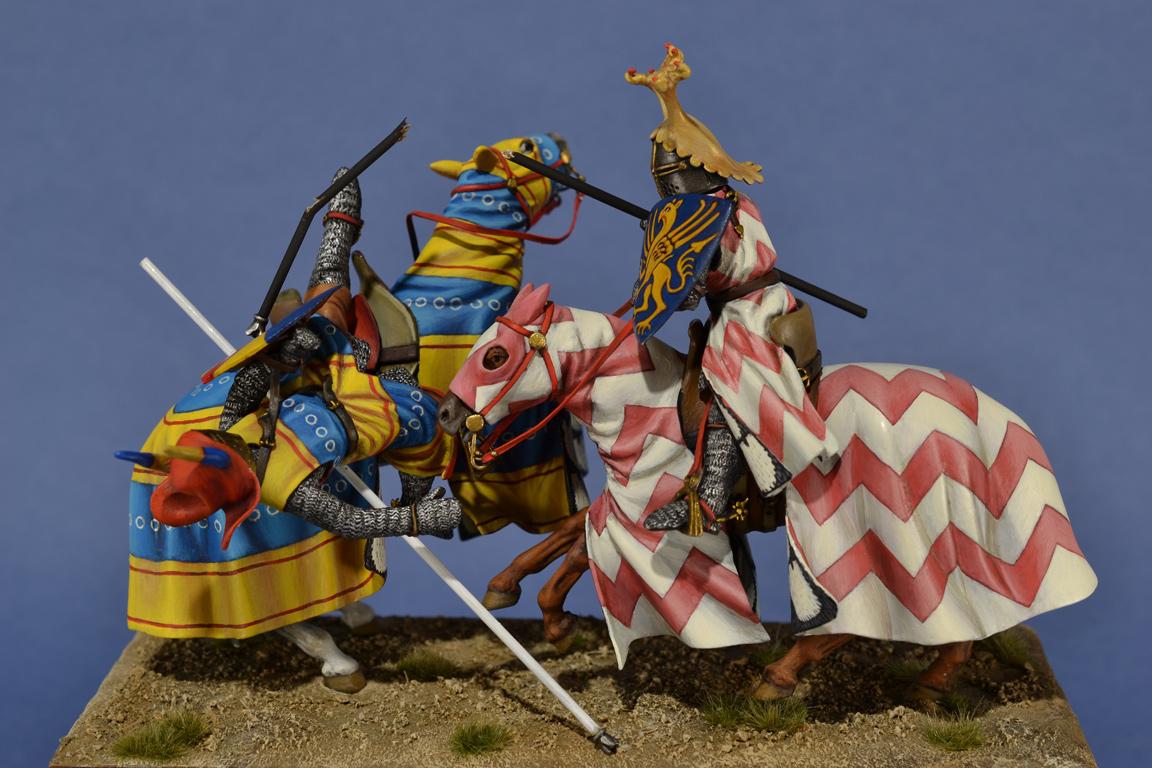 Scontro fra cavalieri in giostra, Germania c. 1300