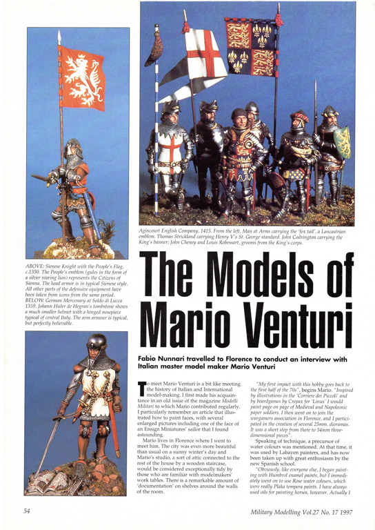 Rivista Military Modelling n° 17/1997.